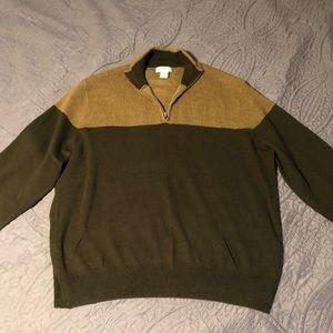Dockers Quarter Zip Sweater   Large   Brown